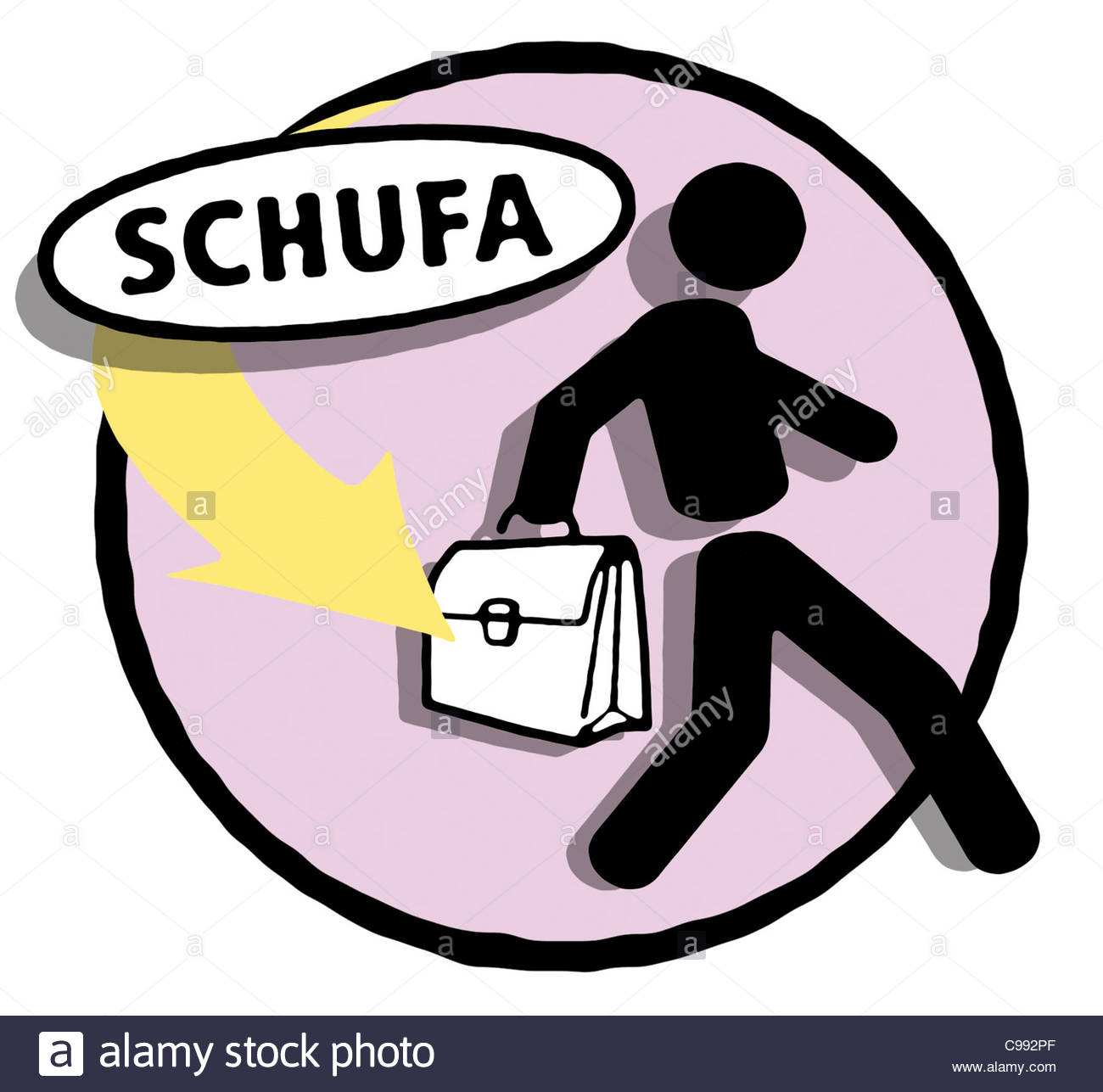 Series Symbols Logo Schufa Blocked Bankruptcy Steal Away Was.