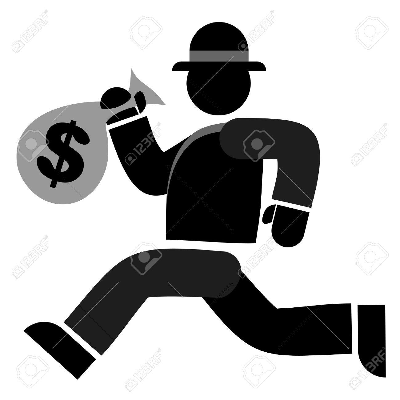 Stealing Money Clipart.