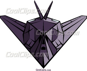 Stealth Bomber Vector Clip art.