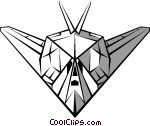 Stealth Bomber Clipart.