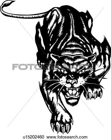 Clipart of Stealth Cat u15202460.