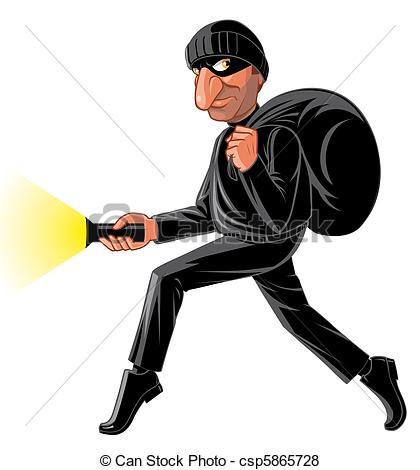 Stock Illustration of Stealthy thief csp5865728.