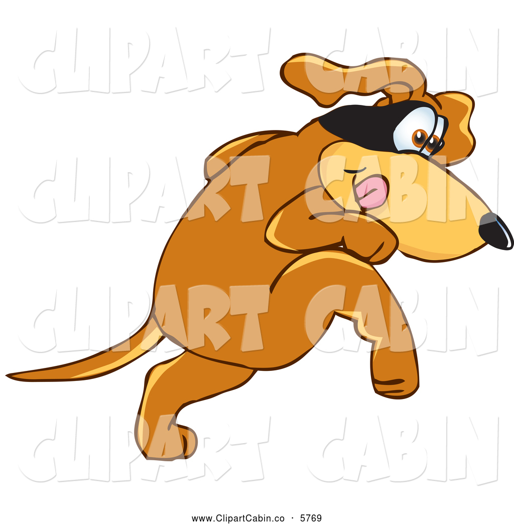 Clipart robing a dog.