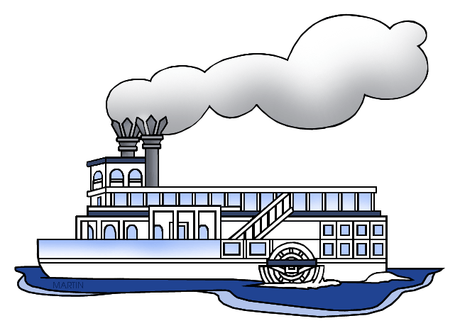 Steam boat clipart #12