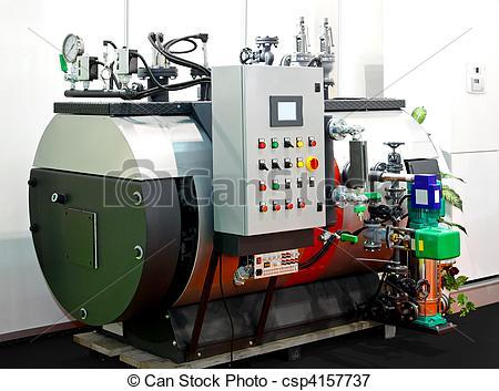 Steam boiler clipart #2