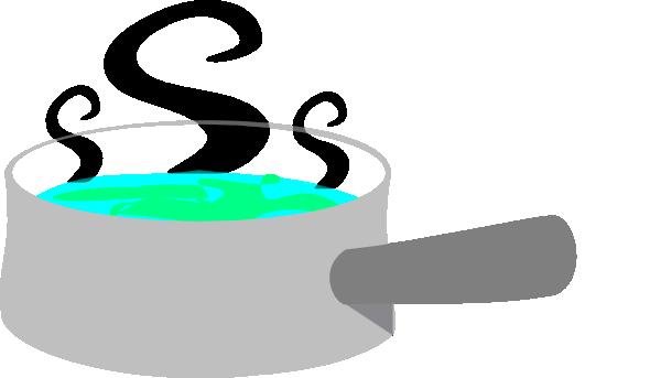 Grey Pot With Steam Clip Art at Clker.com.