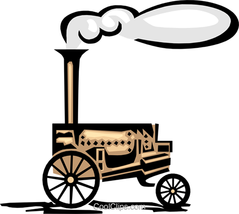 steam engine Royalty Free Vector Clip Art illustration.