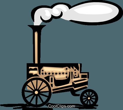 steam engine Royalty Free Vector Clip Art illustration.