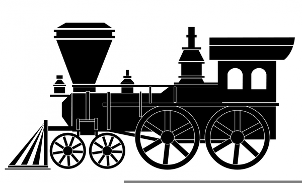 Free Clipart Steam Train.
