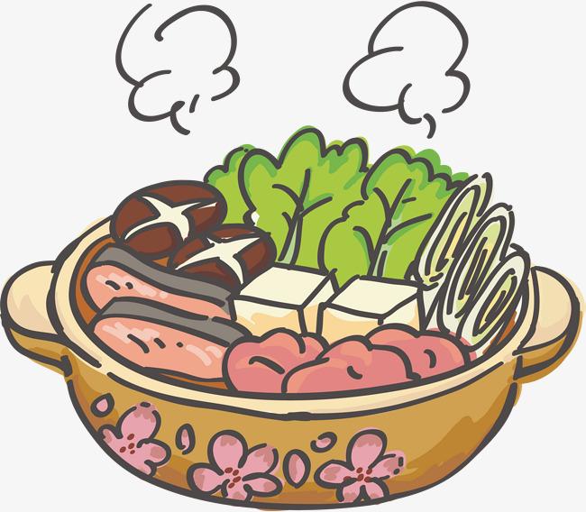 Steam Vegetables Clipart.