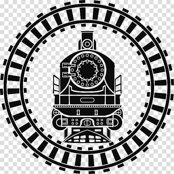 Train track silhouette, Rail transport Train Computer Icons.