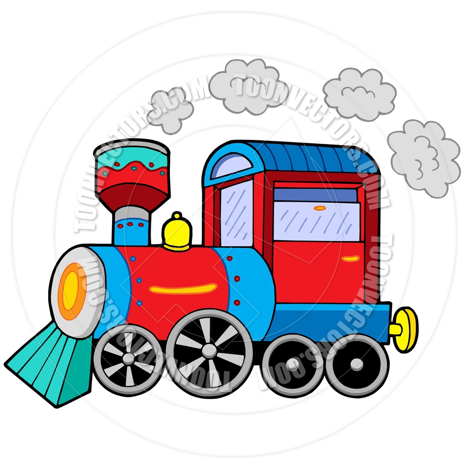Steam train animated clipart.
