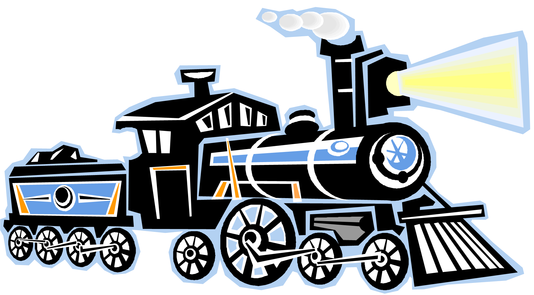 Steam animated transparent clipart.