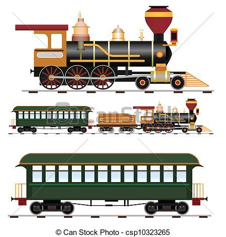 Steam Engine Trains Clipart.
