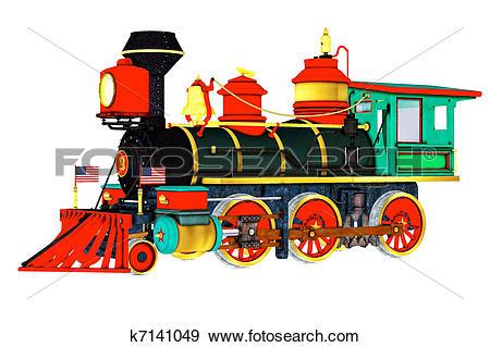 Stock Illustration of Steam powered Train k7141049.