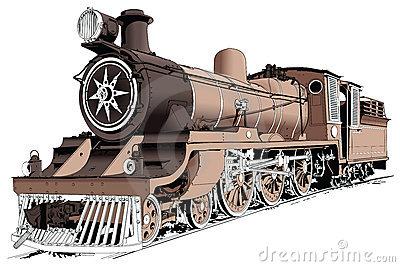 Steam Engine Powered Train Royalty Free Stock Photos.