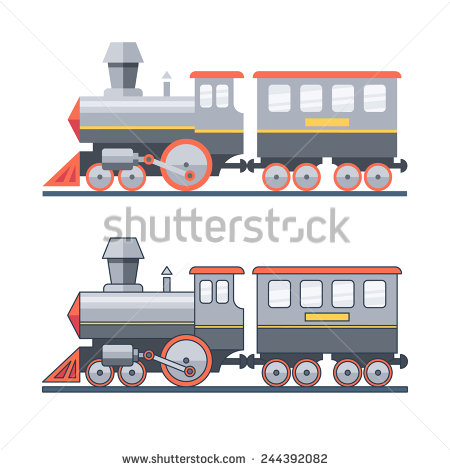 Steam Locomotive Stock Images, Royalty.