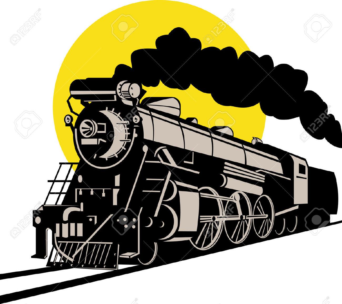 Steam locomotive clipart free.