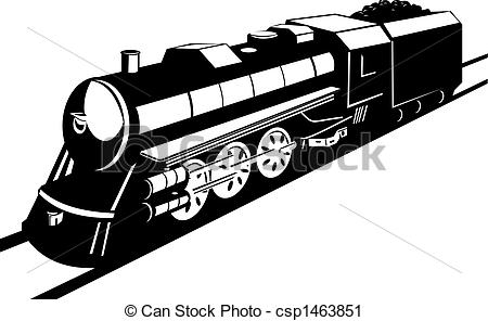Clipart of Steam engine.