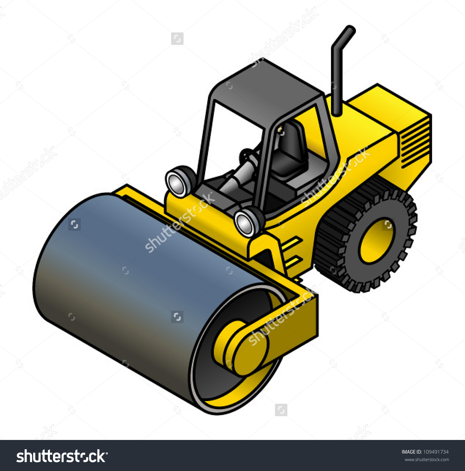 Drum Steamroller Stock Vector 109491734.