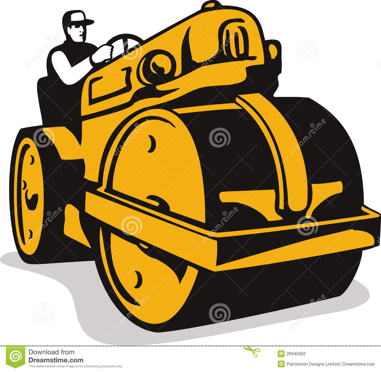 Road Roller Stock Illustrations.