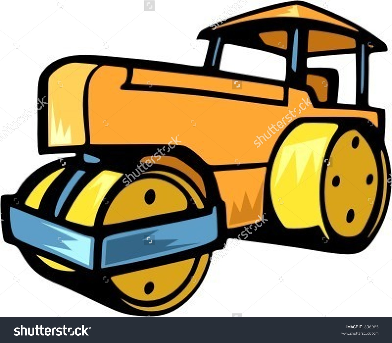 Steamroller.Vector Illustration.
