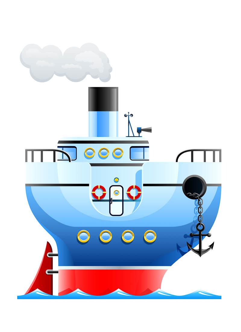 Steamship vector.