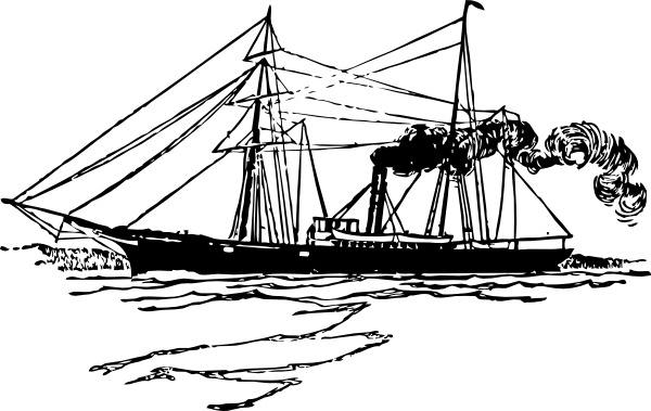 Steam Ship clip art Free vector in Open office drawing svg ( .svg.