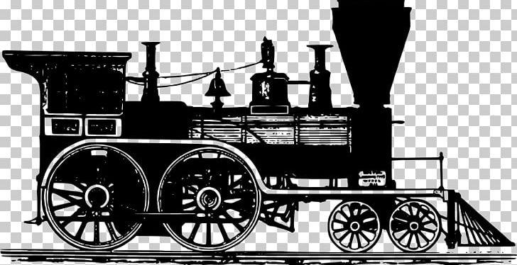 Rail Transport Steam Locomotive Train PNG, Clipart, Black.