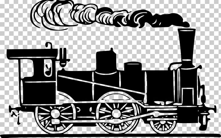 Train Rail Transport Steam Locomotive PNG, Clipart, Black.