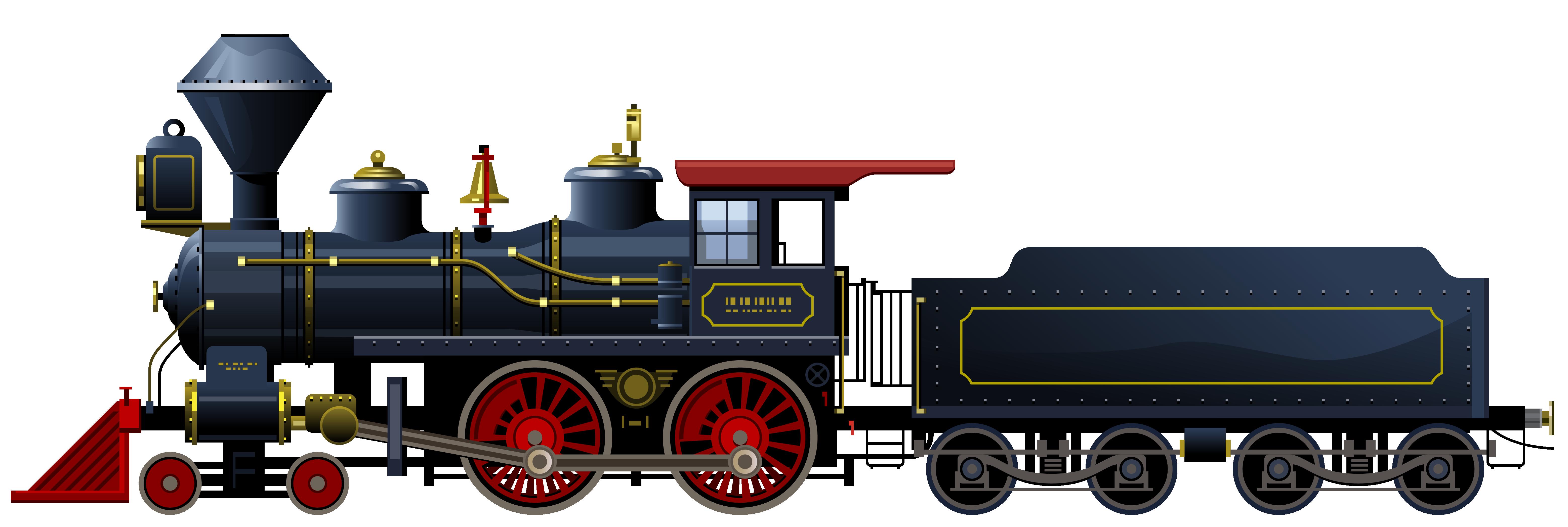 Train Rail transport Steam locomotive Clip art.