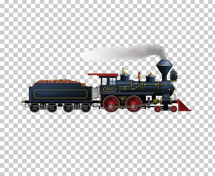Rail Transport Train Steam Locomotive PNG, Clipart, Car.