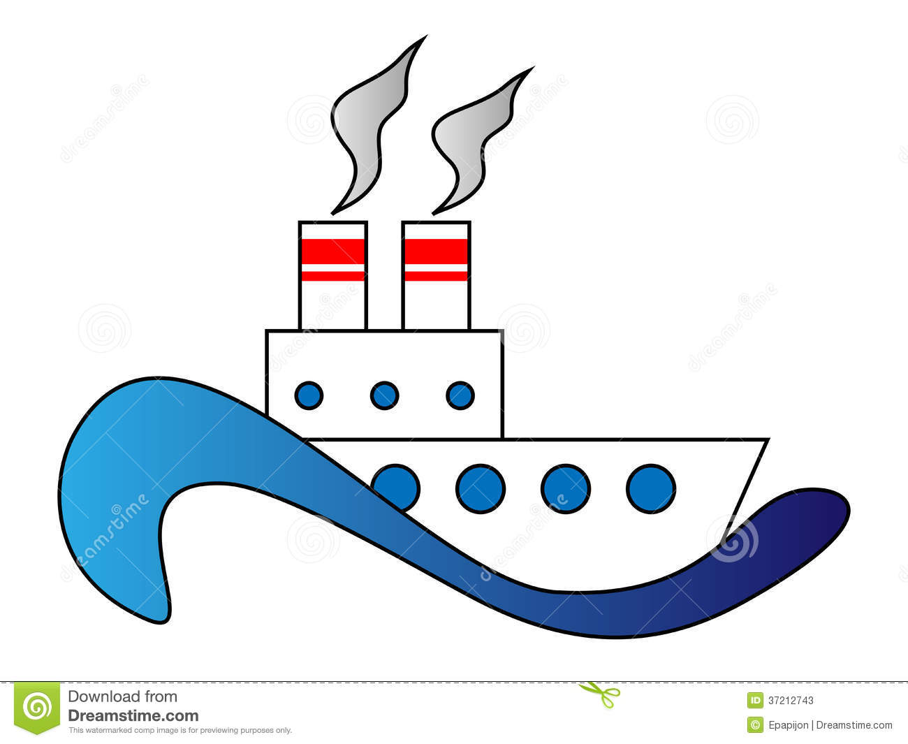 Showing post & media for Steamship clip art cartoon.