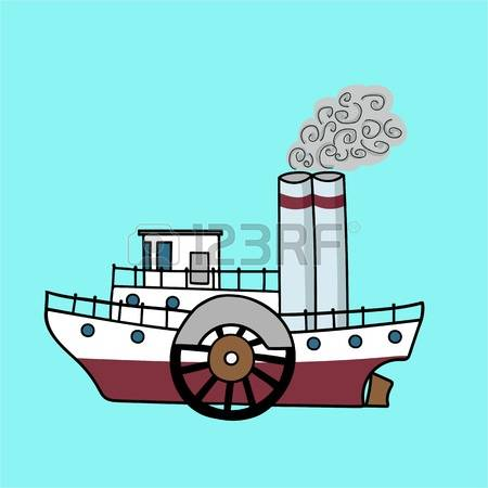 858 Steamboat Stock Vector Illustration And Royalty Free Steamboat.