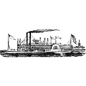Steamboat Clipart.