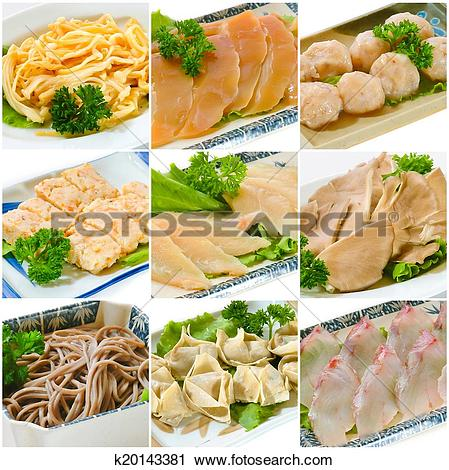 Stock Photography of Steamboat food collection. chinese food.