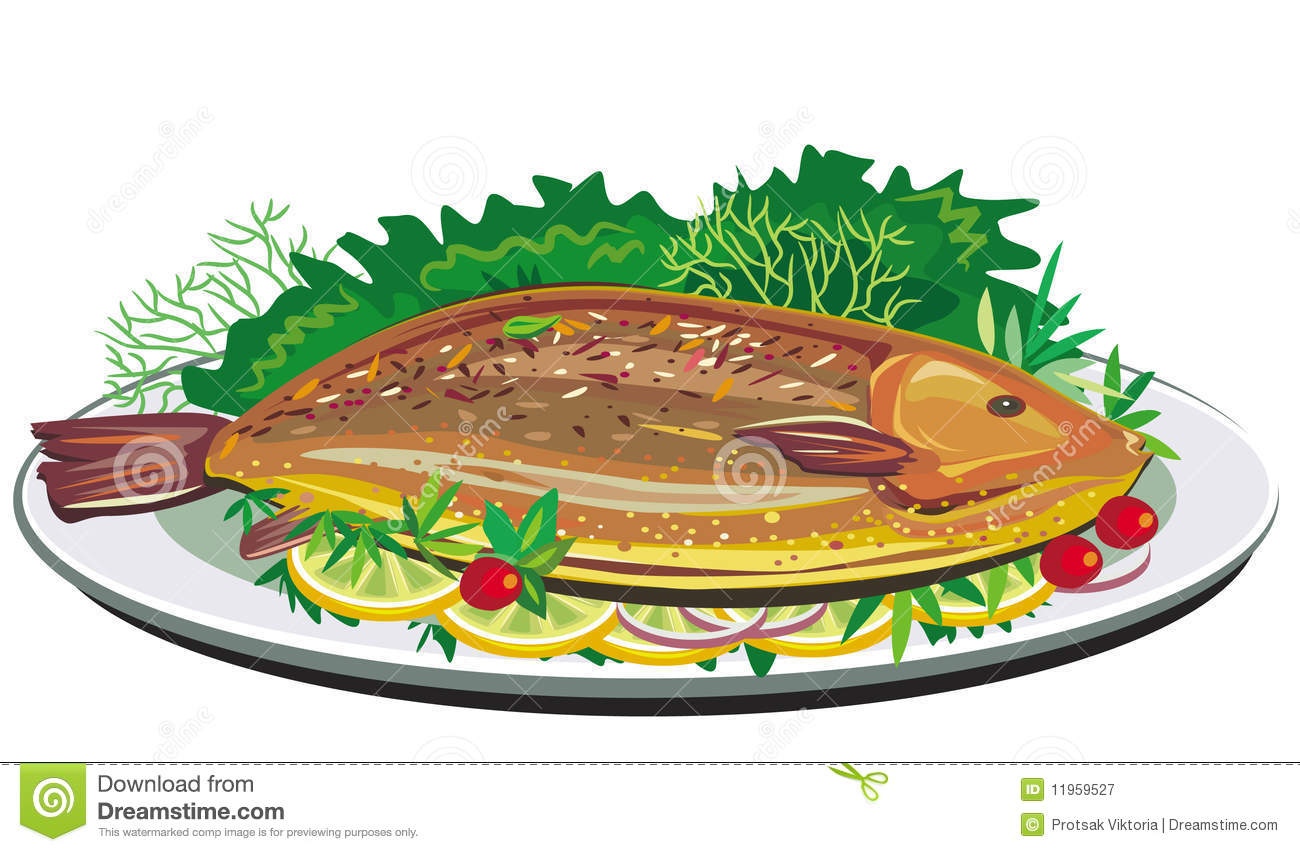 Cooked Fish Clipart Images.
