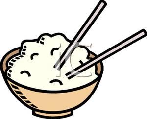 Rice With Chopsticks.
