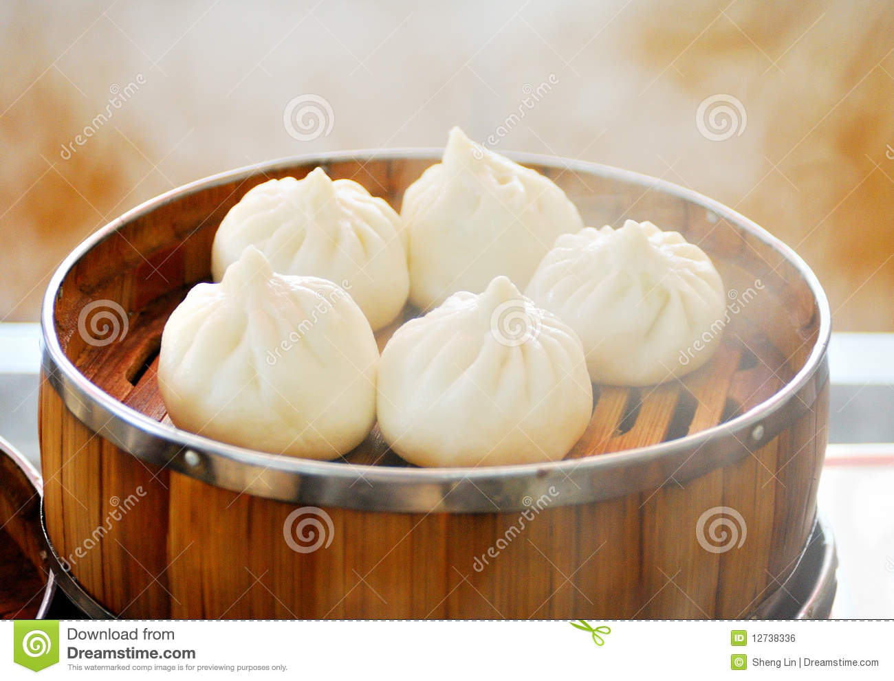 Steamed Stuffed Buns Royalty Free Stock Image.