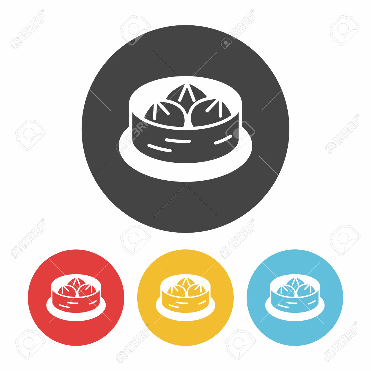 Steamed Stuffed Bun Icon Royalty Free Cliparts, Vectors, And Stock.