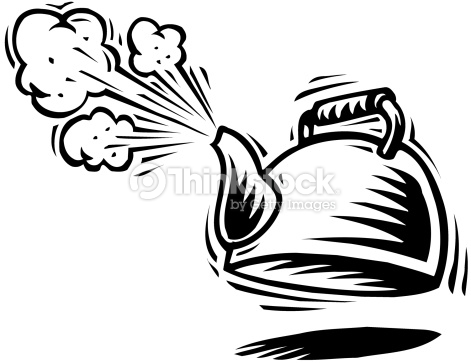 Steam tea pot clipart.