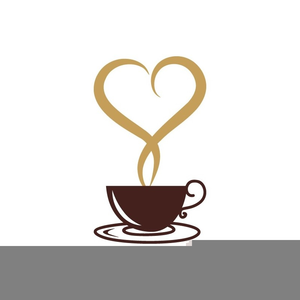 Steaming Coffee Mugs Clipart.