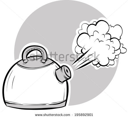 Kettle Steam Stock Photos, Royalty.