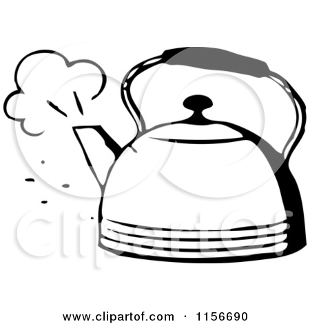 Boiling kettle clipart.