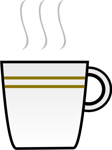 Steaming Coffee Cup Clipart.