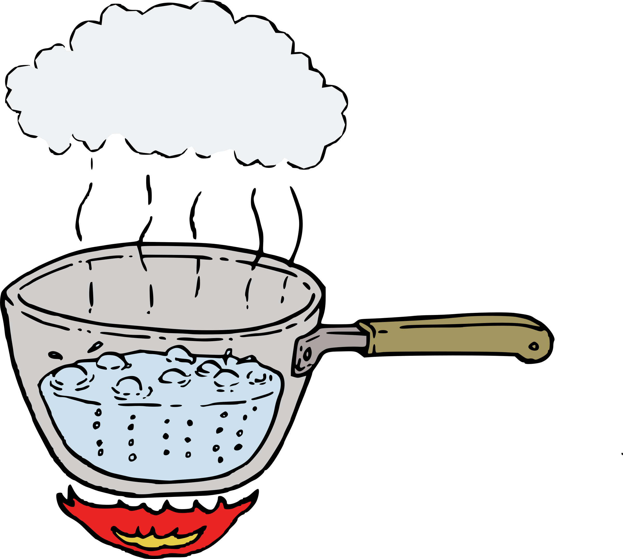 Steam of water clipart.