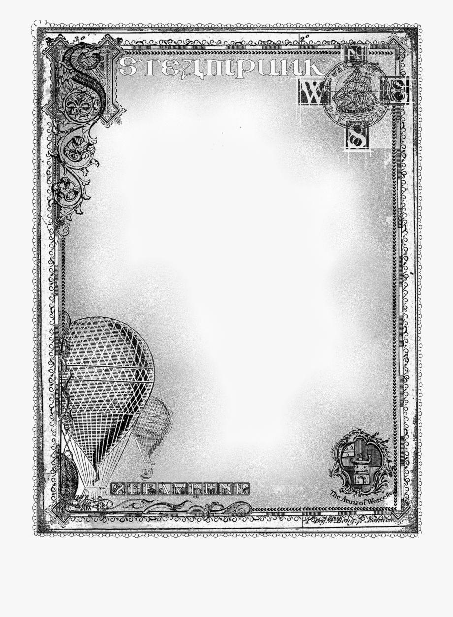 Steampunk Clipart Frame.