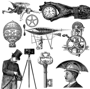 Free Steampunk Clipart Graphics.