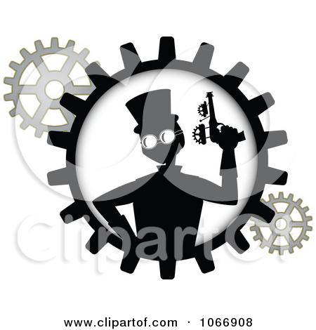 Steampunk Gears Clipart.
