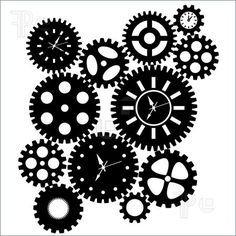 steampunk gear stencil.